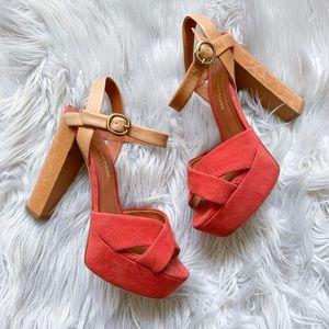 Pour La Victoire Neysa Suede Leather Platform Heel